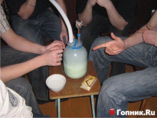 Вместо воды напилася спермой удалена